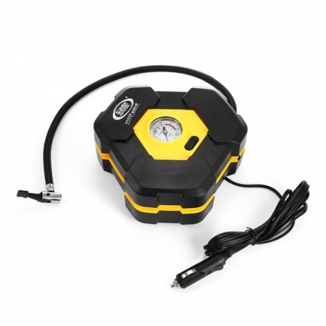 Portable 12V 22 Cylinder Car Auto Mechanical Meter Electric Air Compressor Tire Inflator Pump with Extended Power Cord with Cigarette Lighter Plug