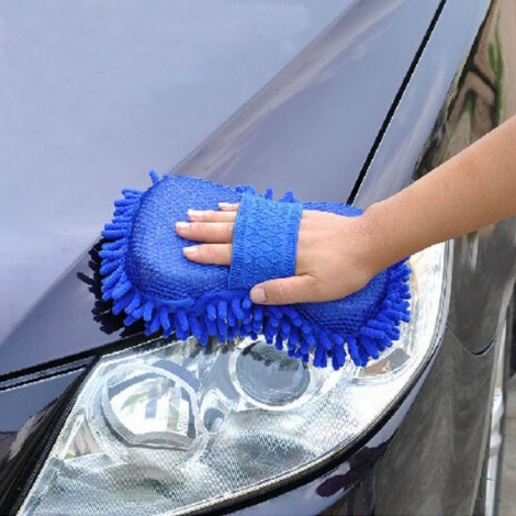 3pcs Microfiber Car Wash Glove Style Brush Random Color
