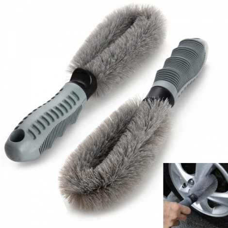 2pcs Motorcycle Car Washing Tire Brush Dust Cleaning Tool