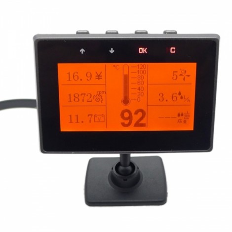 "Y01 3.5"" LCD 3-Mode Display System Vehicle Car OBD Trip Computer Black"
