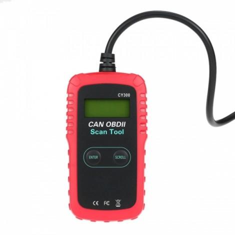 Car Diagnostic Scanner Bar Code Reader Scanning Tool Black & Red