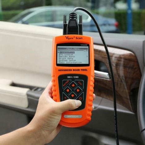 Vgate VS600 Super Scan Tool Universal OBDII/EOBD Scanner Code Reader Orange & Black
