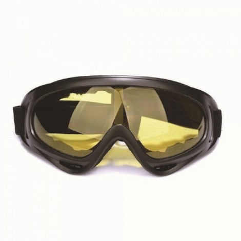 HOT Motorcycle Dustproof Ski Snowboard Sunglasses Goggles Yellow