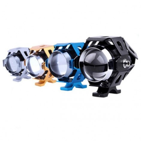 U5 Motorcycle LED Headlight Waterproof High Power Spot Light Golden