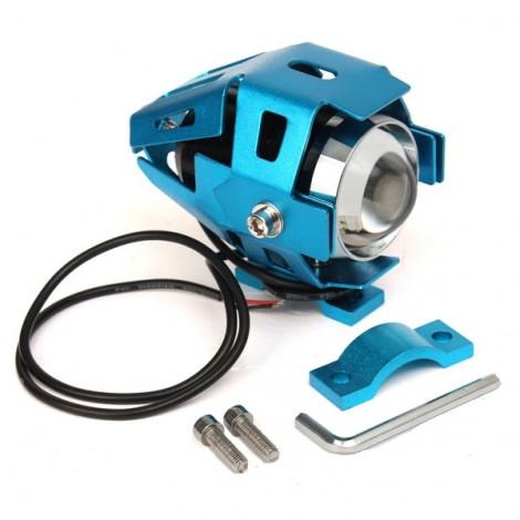 U5 Motorcycle LED Headlight Waterproof High Power Spot Light Blue