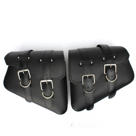 A Pair Universal Motorcycle Saddlebags Saddle Bags Pouch for Harley Black