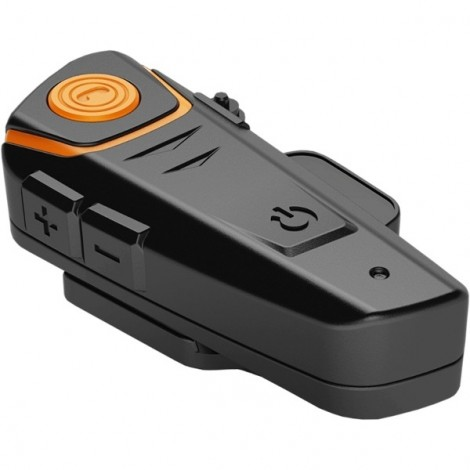 BT-S2 1000m Waterproof Wireless Bluetooth Intercom FM Radio Interphone for Motorcycle Helmet Orange & Black US Plug