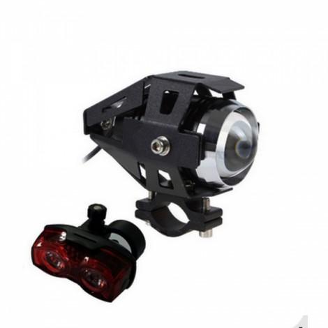 Ultrafire 30W U5 Transformers Car Motorcycle Headlight External Laser Cannon Black