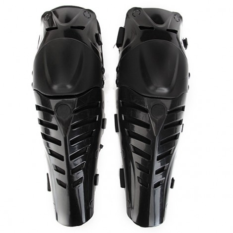 1 Pair of Motorcycle Racing Protective Knee Pads Adjustable Protector Black