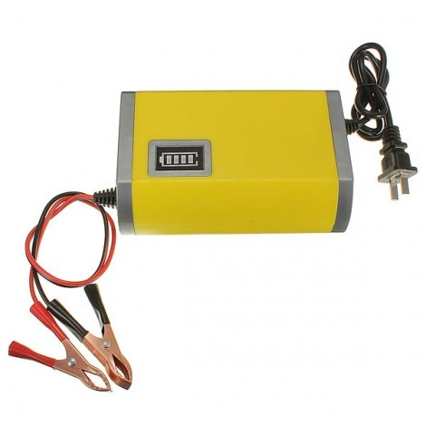 12V / 6A Power Supply Charger Adaptor with Yellow Light Indicator for Car Motorcycle Battery 220V