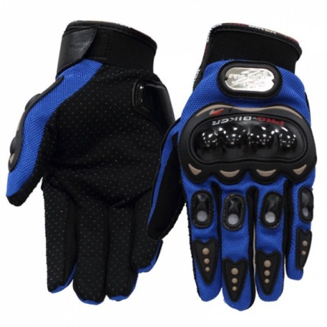 PRO-BIKER MCS-01C Full Finger Motorcycle Cycling Safety Protection Gloves Blue XL