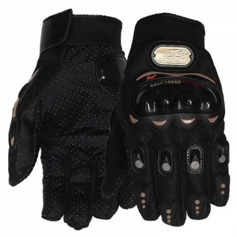 PRO-BIKER MCS-01C Full Finger Motorcycle Cycling Safety Protection Gloves Black M
