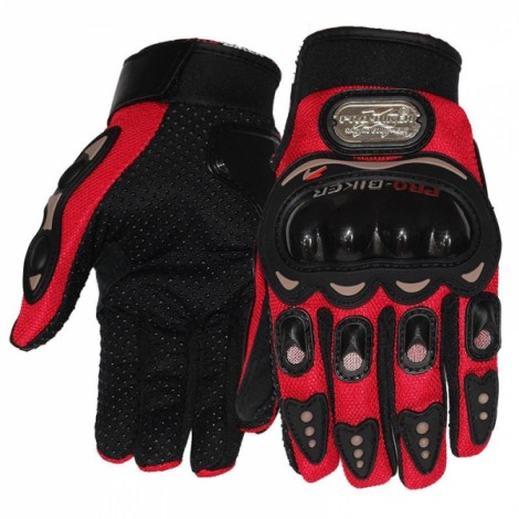 PRO-BIKER MCS-01C Full Finger Motorcycle Cycling Safety Protection Gloves Red XXL