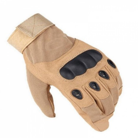 Tactical Military Outdoor Motorcycle Bicycle Airsoft Shooting Hunting Full Finger Gloves Sand Color XL