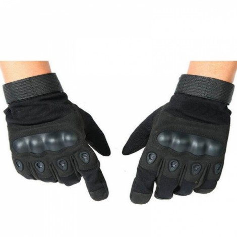 Tactical Military Outdoor Motorcycle Bicycle Airsoft Shooting Hunting Full Finger Gloves Black L