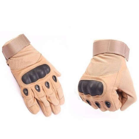Tactical Military Outdoor Motorcycle Bicycle Airsoft Shooting Hunting Full Finger Gloves Sand Color L