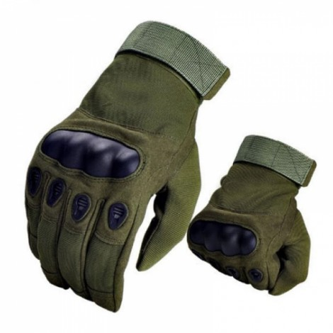 Tactical Military Outdoor Motorcycle Bicycle Airsoft Shooting Hunting Full Finger Gloves Army Green L