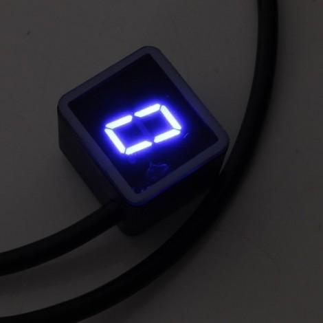 Universal Motorcycle LED Display Digital Indicator Shift Level Sensor Blue LED