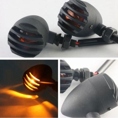 Motorcycle Bullet Turn Signal Light Indicator Lamp for Harley Honda 12V Yellow Light
