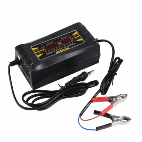 12V 6A Smart Fast Battery Charger for Car Motorcycle LCD Display EU Plug