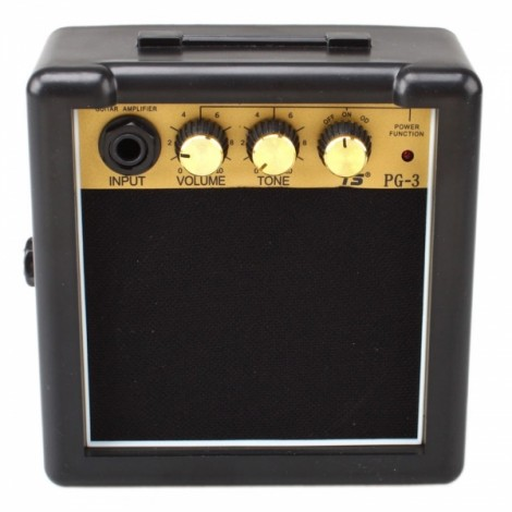 GT-3W Portable Mini Electric Guitar Amplifier Black and Golden