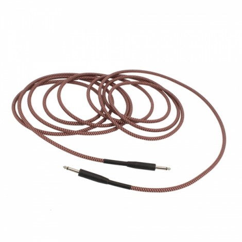 """6M Swamp Guitar Lead Cable - 1/4"""" TS Connectors Red"""