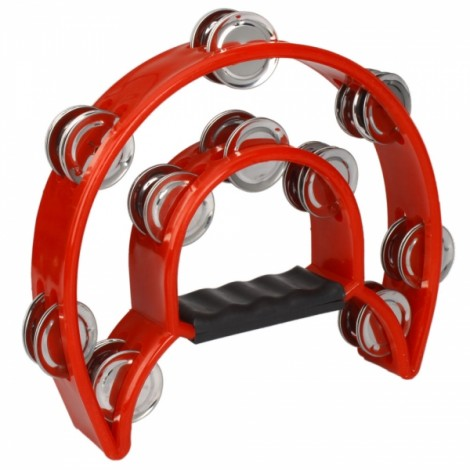 Two-ring Hand Rattles Drum Red