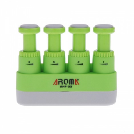 Aroma AHF-03 Portable Guitar Bass Piano Hand Finger Exerciser Medium Tension Hand Grip Trainer Green