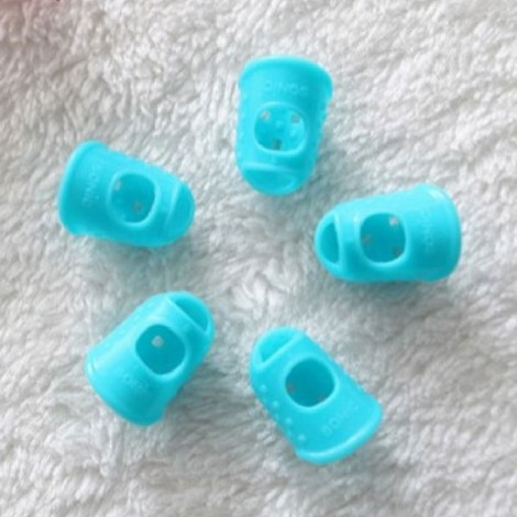 Guitar Fingertip Protector Silicone Finger Guard for Girls / Kids Sky Blue S