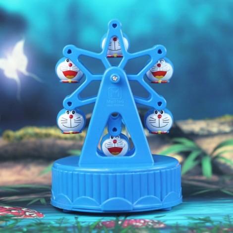 Creative Music Box Happiness Ferris Wheel Music Box Dynamic Rotary Music Box Home Decoration Blue
