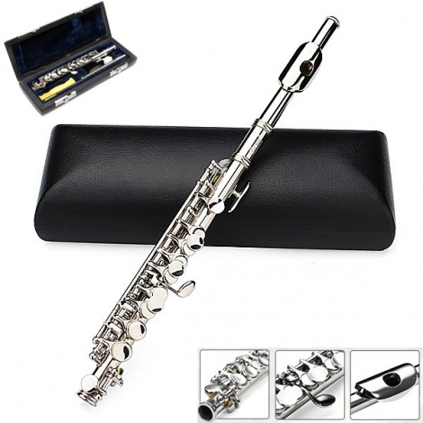 LADE Silver Plated C Piccolo Flute With Case