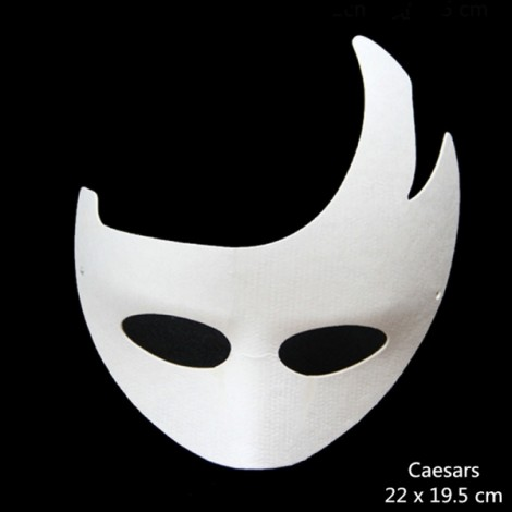 Halloween Cosplay Costume Party Caesars Mask Paper Pulp Mask for DIY White