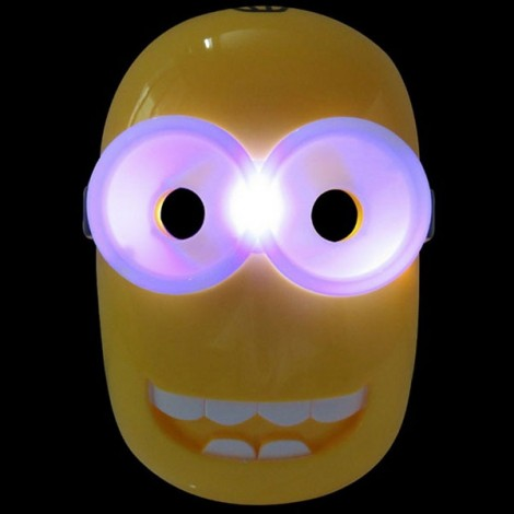 Halloween Costumes LED Light Minions Mask