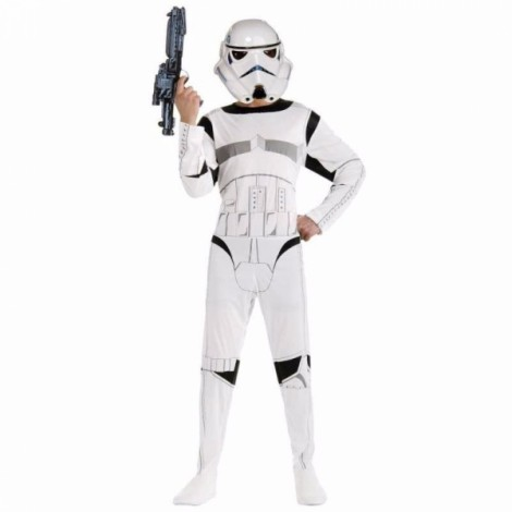 Star War Storm Trooper Darth Vader White Knight Children Cosplay Party Costume Clothing Set L