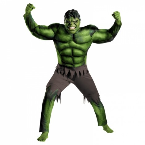 Children Halloween Costume Green Hulk Muscle Cosplay Clothing Green L