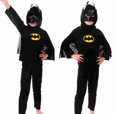 Children Party Cosplay Costume Boys Girls Kids Clothes Batman Clothing Set Halloween Gift Black L