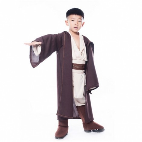 Boys Star Wars Deluxe Jedi Warrior Anakin Skywalker Movie Character Kids Cosplay Costume Party Halloween Fancy Clothing L