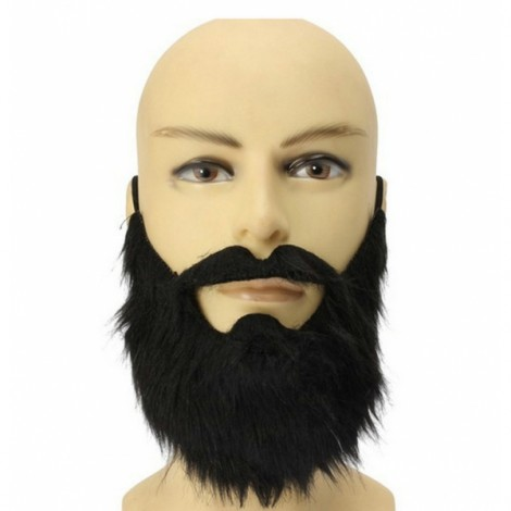 Halloween Mask False Beard Mustache Masquerade Party Mask Black