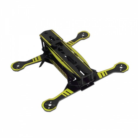 Super Racing Multiaxial Glass Rack 250mm FPV Multirotor Frame Kit Black & Yellow
