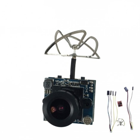 Boldclash F-03 AIO 5.8GHz 40CH 25mW/200mW Cam VTX Support 3V-26V NTSC/PAL with Clover Antenna for QAV180-250