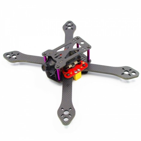 "Reptile Martian III 220 220mm 5"" Arm 120g Full Carbon Fiber FPV Frame Kit with PDB XT60 Male Plug"
