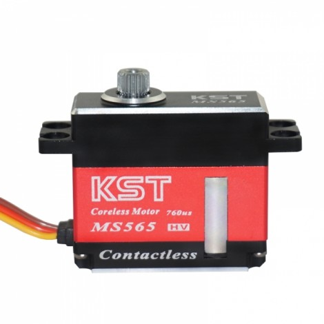 KST MS565 38g CNC Metal Gear Contactless Coreless Motor 2s 450-500 Heli Servo