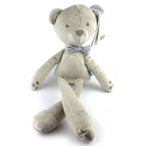 Baby Kid Lovely Bear Sleeping Comforter Calm Doll Plush Toy Gray