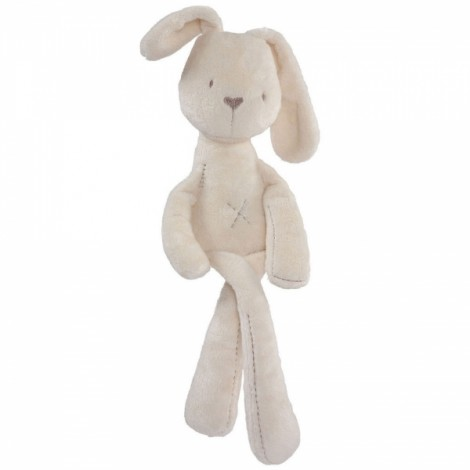 Baby Kid Lovely Bunny Rabbit Sleeping Comforter Calm Doll Plush Toy Beige