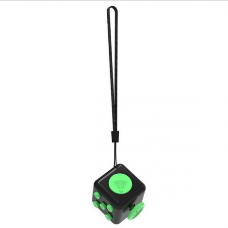 Fidget Magic Spin Cube Stress and Anxiety Reliever Black & Green