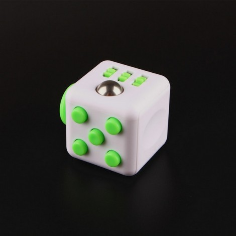 Fidget Magic Spin Cube Stress and Anxiety Reliever Grass Green