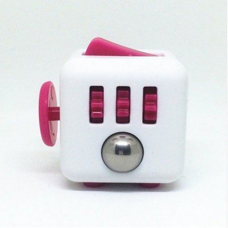 Fidget Magic Spin Cube Stress and Anxiety Reliever Rose Red