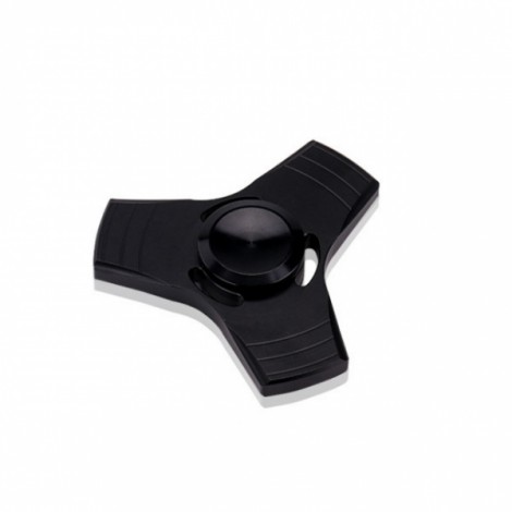 EDC Tri-Spinner Fidget Pattern Hand Spinner Rotating Toy Metal Fingertips Fingers Gyro Decompression Toy Black