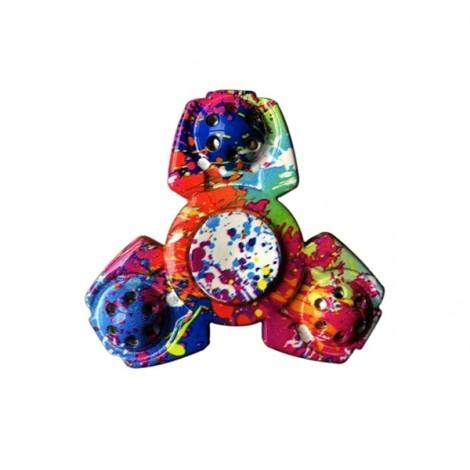 EDC Camouflage Hand Fidget Tri-Spinner Finger Spinner Focus Reduce Stress Tool Colorfull