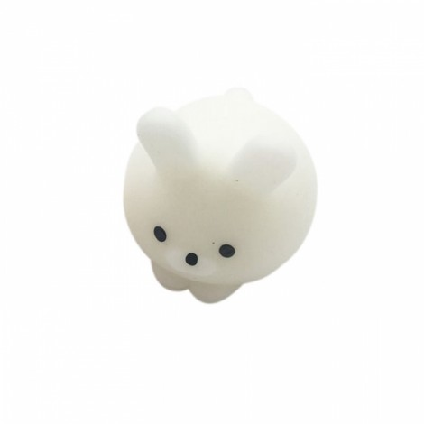 Mochi Bear Squishy Squeeze Cute Healing Toy Kawaii Collection Stress Reliever Gift Decor Dumpling Rabbit White